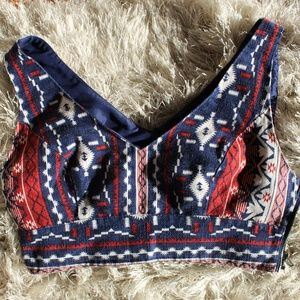 Geometric Forever 21 crop top